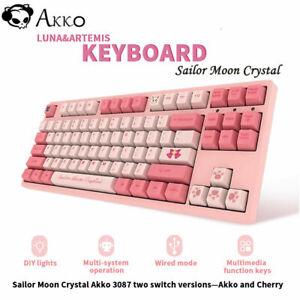 Sailor Moon Crystal Akko 3087 Mechanical Keyboard CHERRY Cute Girls PC Keyboard