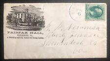 1890s Winchester Va USA Advertising cover To Shenandoah Co USA Fairfax Hall