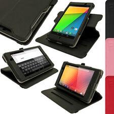 Schwarz PU Leder Tasche Case für Neue Google Nexus 7 FHD Tablet 2. Gen Aug 2013