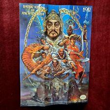 Bandit Kings Of Ancient China✨Huge Poster Insert✨Nintendo NES Original Authentic