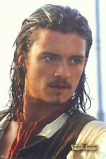 Almost VTG PIRATES OF THE CARIBBEAN POSTER Orlando Bloom Will Turner 24X36 2003