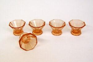 5 LIKÖRGLÄSER ROSALINGLAS 30er Jahre Glas Art deko