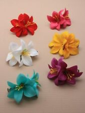New on Card Double Yellow Flower Hair Clip FREE POSTAGE
