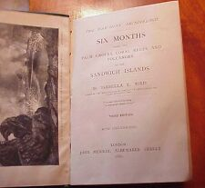 1880 Six Months in the Sandwich Islands Isabella Bird 3rd Edition TH Hawaii