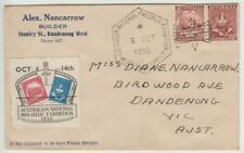 Stamps ANPEX Adelaide exhibition 1950 Cinderella label Alex Nancarrow cover