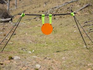 "GlowShot 300mm (12"") AR500 Gong and Self Healing Plate Hanger Combo"