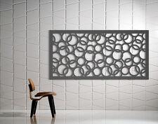 Laser Cut Metal Decorative Screen 'Rings' Mild Steel - 1200 x 600