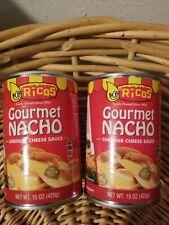 Ricos Gourmet Nacho Cheese Sauce Cheddar 15 Oz Each 2 cans Please Read