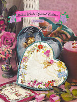 Ribbon Embroidery Book 11 patterns full color and iron on transfers Ribbonworks