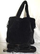 SEPHORA Black Faux Fur Tote/Cross Body/Shoulder Bag / Handbag