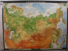 Schulwandkarte muro mapa tarjeta Map Russia rusia 1967 Soviet Union 247x183 jpd