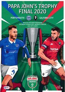 PAPA JOHN'S TROPHY FINAL  2020 2021 Portsmouth v Salford City Official programme