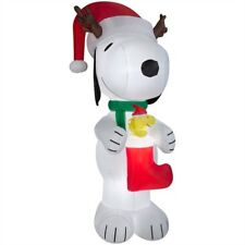 Gemmy 10' Snoopy blow up Christmas inflatable
