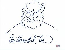 GUILLERMO DEL TORO SIGNED AUTOGRAPHED 8.5X11 PHOTO SKETCH DRAWING ART PSA/DNA