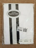 Egyptian Cotton fitted bed sheet DOUBLE white - super smooth - easy wash BNWT