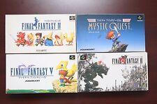 Super Famicom SFC Final Fantasy IV V VI USA FF4 5 6 Mystic Quest boxed US Seller