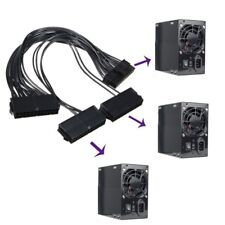 4PIN PSU Power Supply+3 PORT 20 ATX 24 Pin Motherboard Adapter Connector Cable