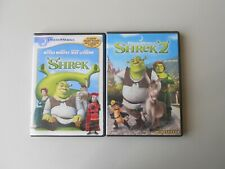 SHREK & SHREK 2 DVD Set Family Children's Comedy Adventure Widescreen Fairy Tale