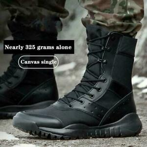 Mens Military Tactical Combat Boots Hiking Work Shoes Lightweight Waterproof SZ