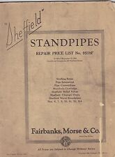 VINTAGE CATALOG #2710 -  1934 FAIRBANKS - MORSE RAILROAD WATER STANDPIPES
