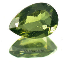 1.44cts pear 7x10mm normal cut moldavite faceted cutted gem BRUS648