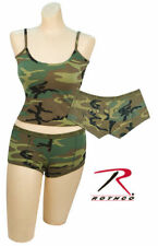 """TANK TOP AND """"BOOTY CAMP"""" SHORTS SET WOODLAND CAMO ROTHCO XS  S M L XL 2X"""