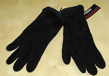 NEW Fownes Mens Black Blue Leather Gloves sz Large