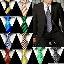 Lot of 5 Pcs Dress Ties Necktie Classic Handmade Jacquard Woven  Neck tie Groom