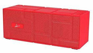 Lyrix Remixx Bluetooth Rectangle Portable Speaker Red w/ Built-In Mic Model 9767