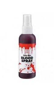 BOTTLE OF FAKE BLOOD SPRAY HALLOWEEN FANCY DRESS ACCESSORY ZOMBIE PUMP SPATTER
