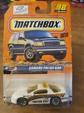 1999 Matchbox White Camaro Police Col#98
