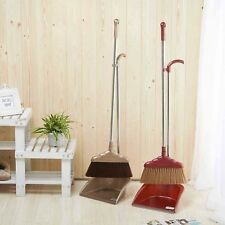 High Quality Broom Dustpan Set For Home Floor Cleaning,Brown/ Red