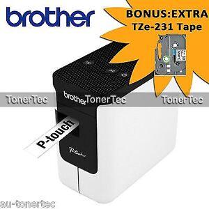 Brother PTP700 Desktop Thermal Plug&Play Labeller+Cutter 3.5mm-24mm BONUS: TZ231
