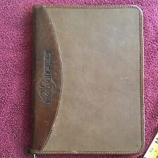 Ford F 150 King Ranch Leather Zipper Binder Planner Portfolio Vintage Rare