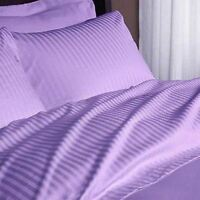 All Bedding Items 1000 Thread Count Egyptian Cotton US Sizes Lilac Striped