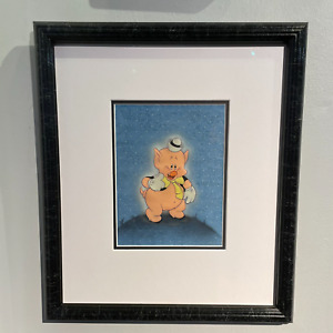 WALT DISNEY THE PRACTICAL PIG 1939 FRAMED ORIGINAL PRODUCTION CEL FIFER