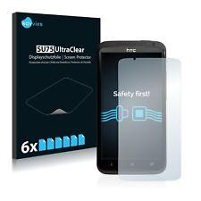 6x Displayschutzfolie für HTC One X Schutzfolie Klar Folie Displayfolie