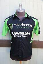 Monster Energy Kawasaki Pro Circuit Racing Team Issue Pit Crew Button Shirt XS