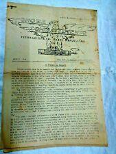Bari-1945  Federazione dei Fasci Repubblicani(Raro pezzo di Storia)ORIGINALE