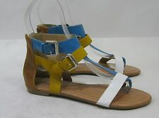 Summer  white/blue/yellow NEW WOMEN FASHION  Gladiator SANDALS  SIZE  7.5