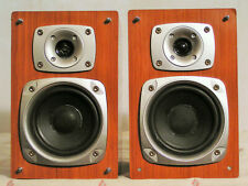 Pair of Teac LS-MC90 2-Way 60W Stereo Speakers Faux Wood w/Mounts Free Ship
