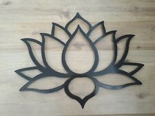 "Lotus Flower Metal Art, Black, Wall Decor, 31"" wide and 23"" tall"