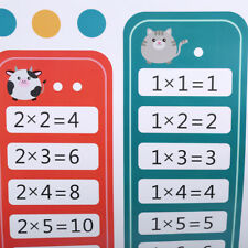 Children Early Educational Supplies 99 Multiplication Math Toy Wall Stickers CB