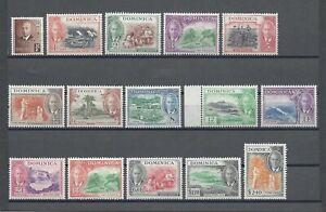 DOMINICA 1951 SG 120/34 MNH Cat £50