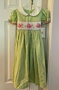 NWT Marmellata Embroidered And Smocked Whale Dress Size 4