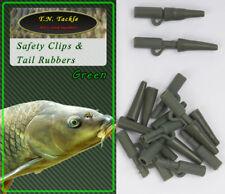 40pc Safety Clip + Tail Rubber Set Blei-Clips Bolt Rig Boilie-Montage Carp 20+20