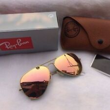 NEW AUTHENTIC RAY-BAN AVIATOR RB3025 019/Z2 55MM COPPER PINK LENS GOLD