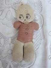 """Vintage Antique Sock Doll Home Made 9"""""""