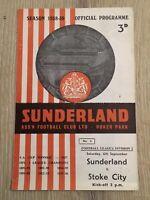 SUNDERLAND V STOKE CITY 1958/59