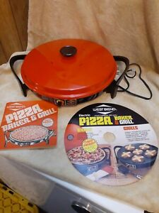 Vintage Electric Pizza Baker & Grill West Bend 5388 Variable Temp Control